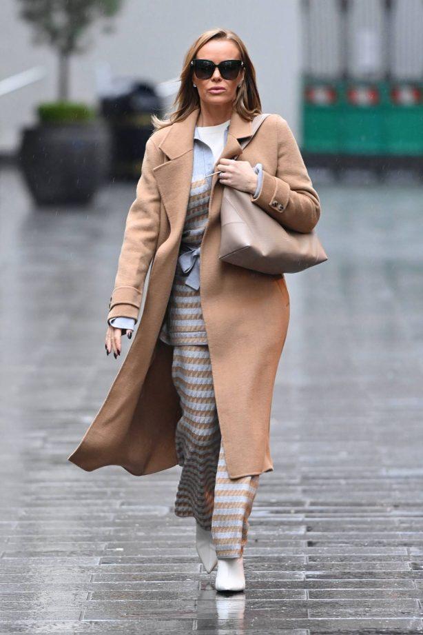 Amanda Holden - Leaving Global Studios - Heart FM in London