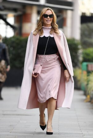 Amanda Holden - Leaving Heart Breakfast Show in London