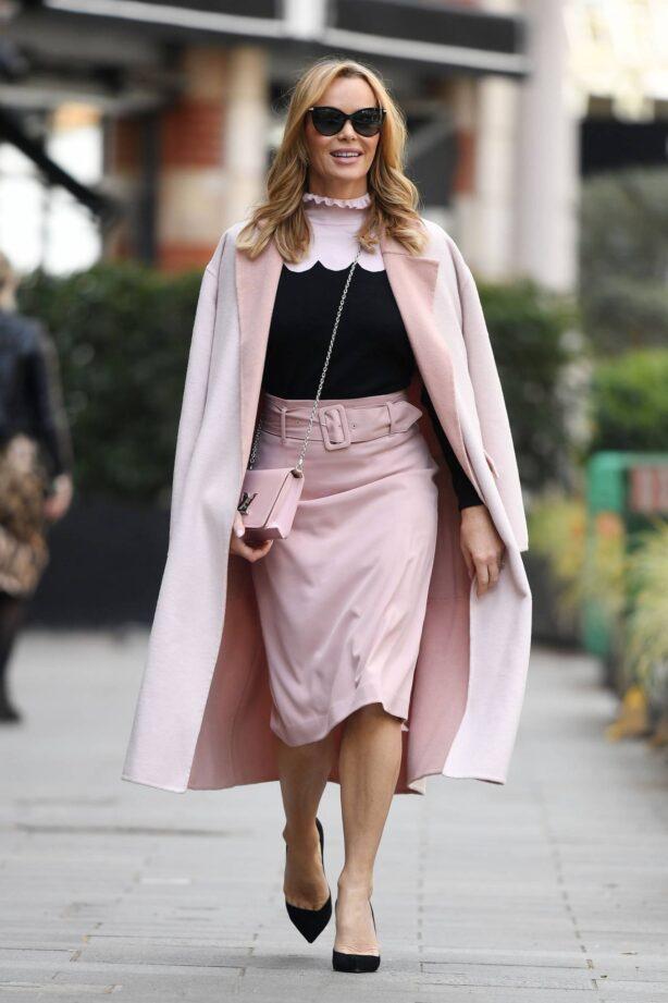Amanda Holden - Leaving Heart Breakfast Show in London