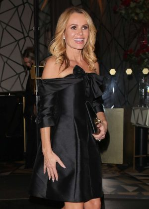 Amanda Holden - Leaving Quaglinos restaurant in London