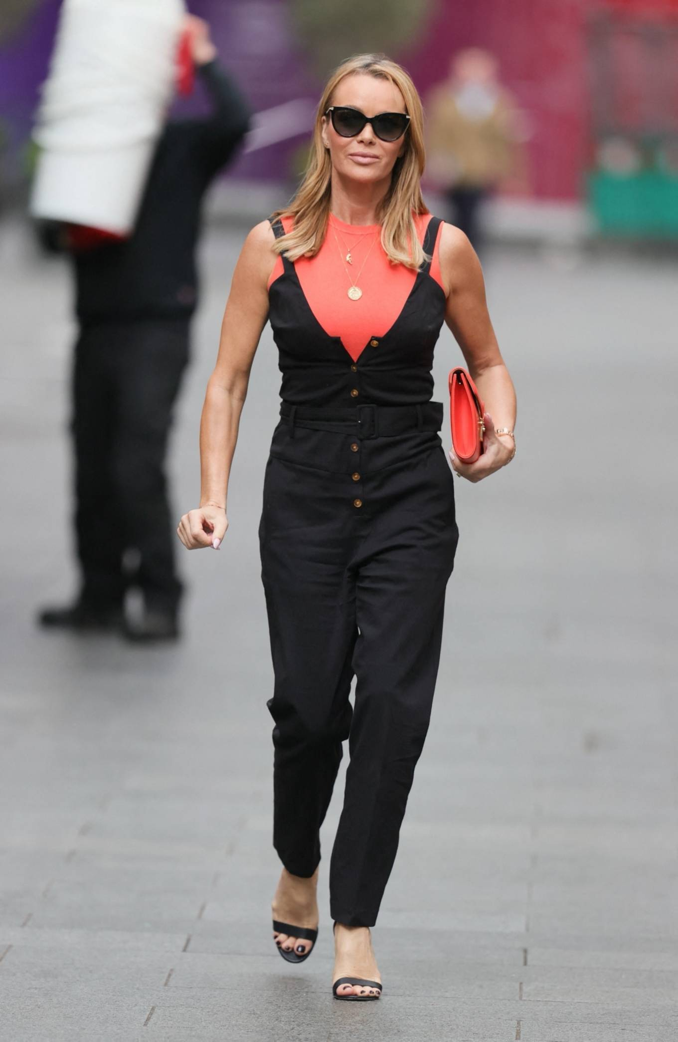 Amanda Holden - leaving the Global studios after the Heart Breakfast show in London