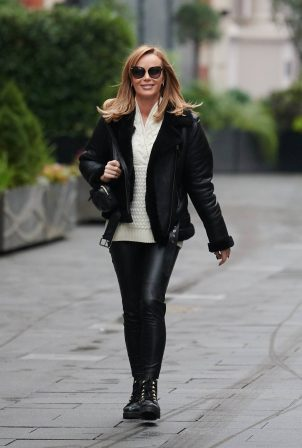 Amanda Holden - leaving the Global Studios in London