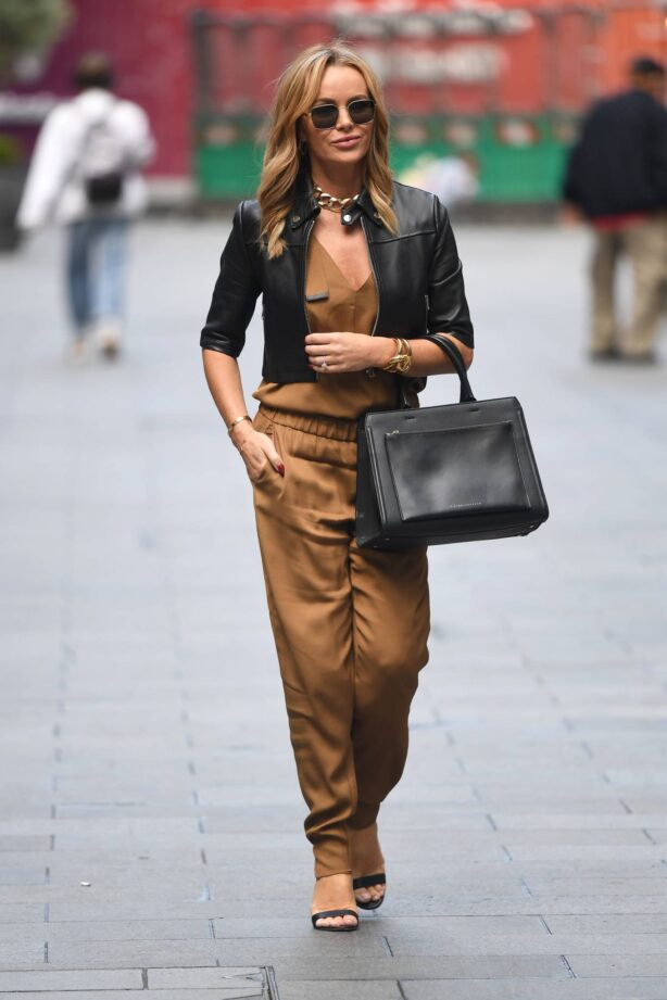 Amanda Holden - Looks chic in beige while out in London