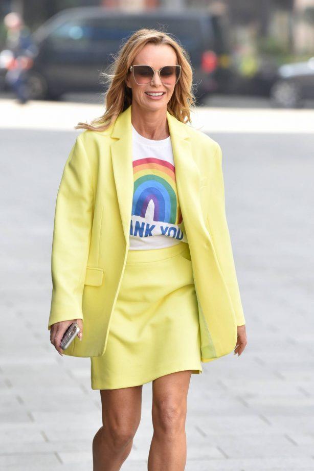 Amanda Holden - Looks radiant as she leaving Global Studios in London
