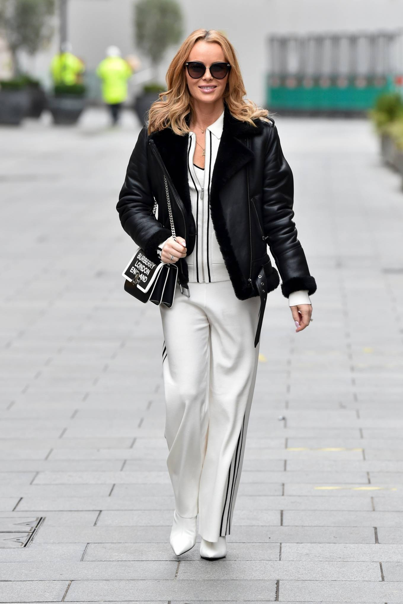 Amanda Holden - Pictured after the Heart Breakfast show