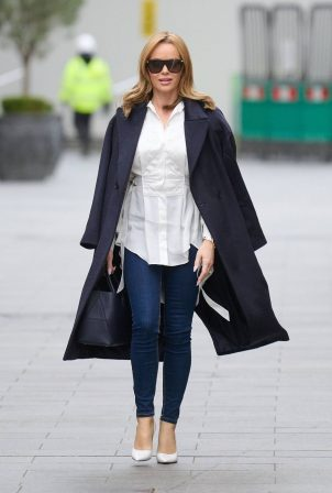 Amanda Holden - Pictured leaving Global Radio Studios in London