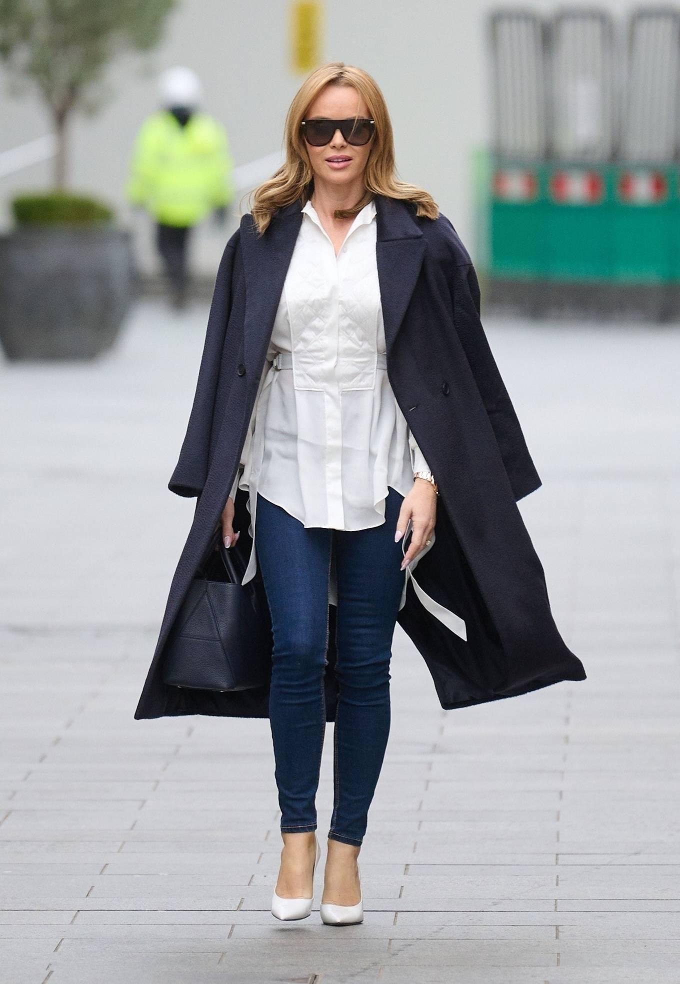 Amanda Holden - Pictured leaving Global Radio Studios in London