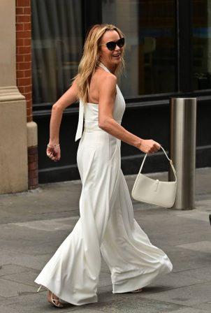 Amanda Holden - Pictured leaving the Global Radio Studios in London