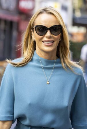 Amanda Holden - Pokies - Leaves Global Radio after presenting her show in London