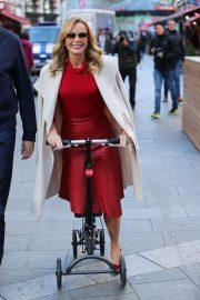 Amanda Holden Ride Scooter - Leaving Global Radio in London