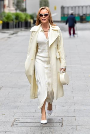 Amanda Holden - Seen after the Heart Breakfast show in London