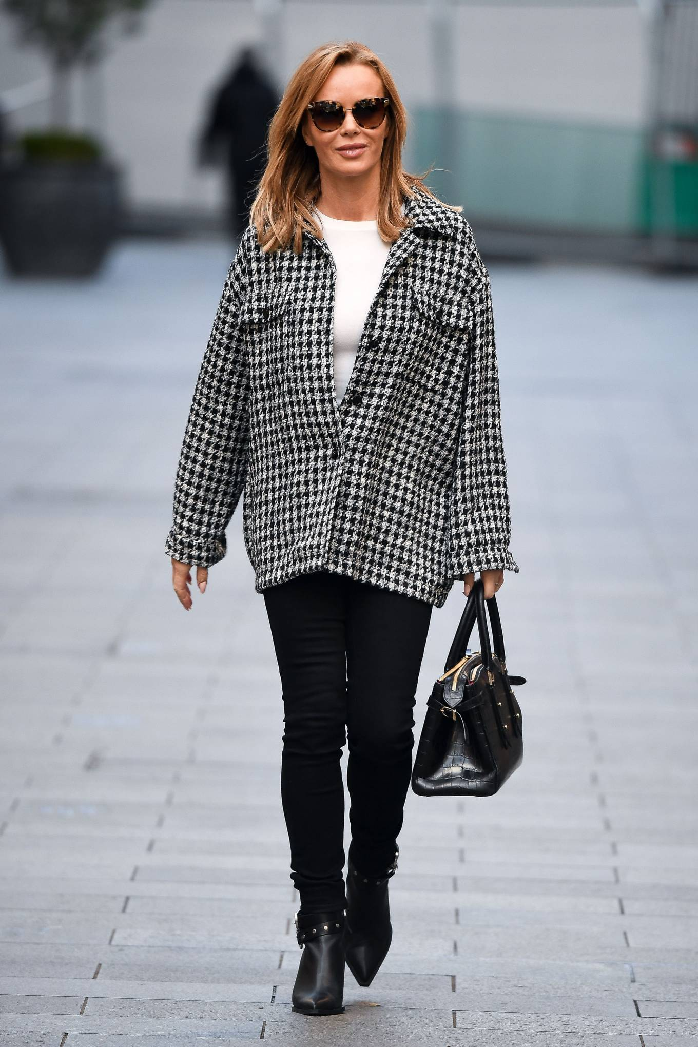 Amanda Holden - Seen after the Heart Radio Breakfast show in London