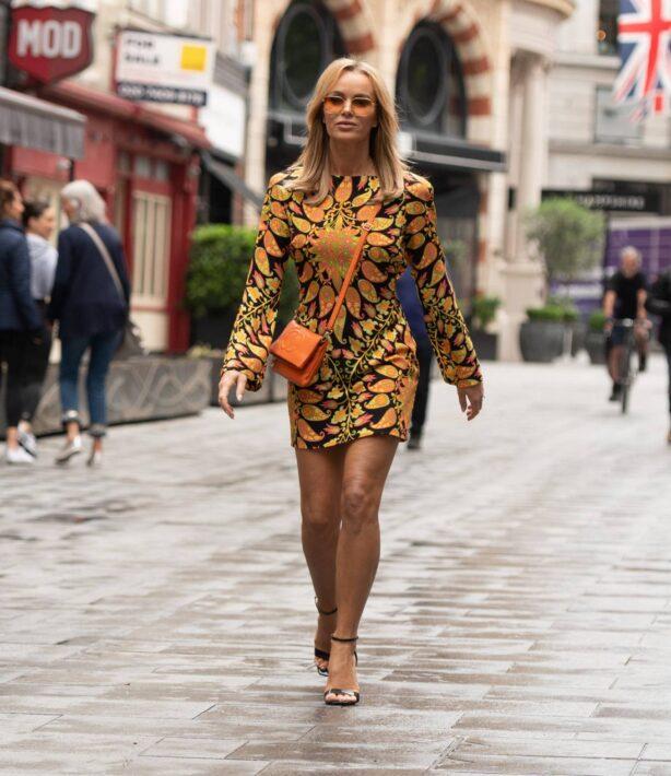 Amanda Holden - Seen at Global Radio in London