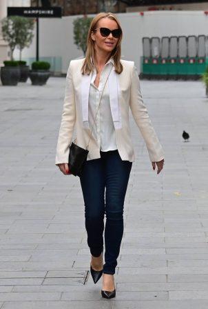 Amanda Holden - Seen at Heart FM in London