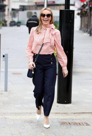 Amanda Holden - Seen departing Global Radio Studios in London