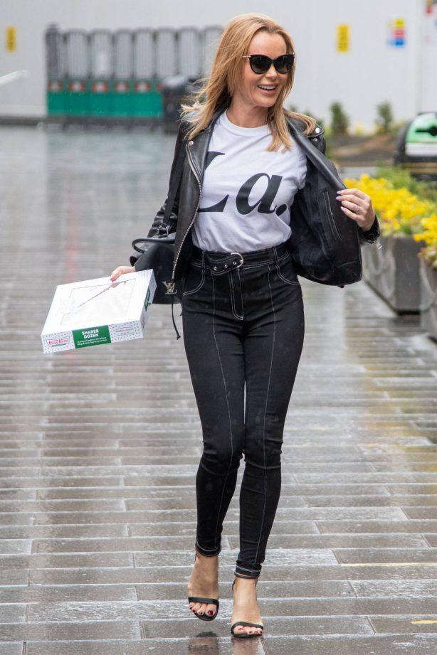 Amanda Holden - Seen departing Heart FM show