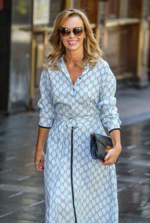 Amanda Holden - Seen departing the Global Radio Studios in London