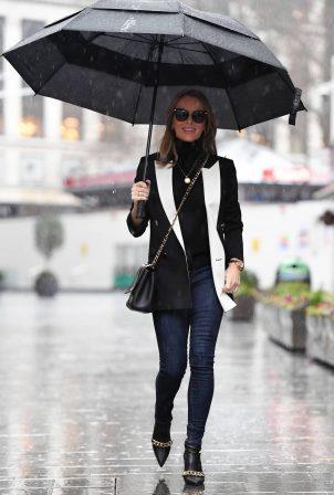 Amanda Holden - Seen in the rain in London