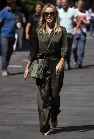 Amanda Holden - Seen leaving Global Radio in Leicester Square