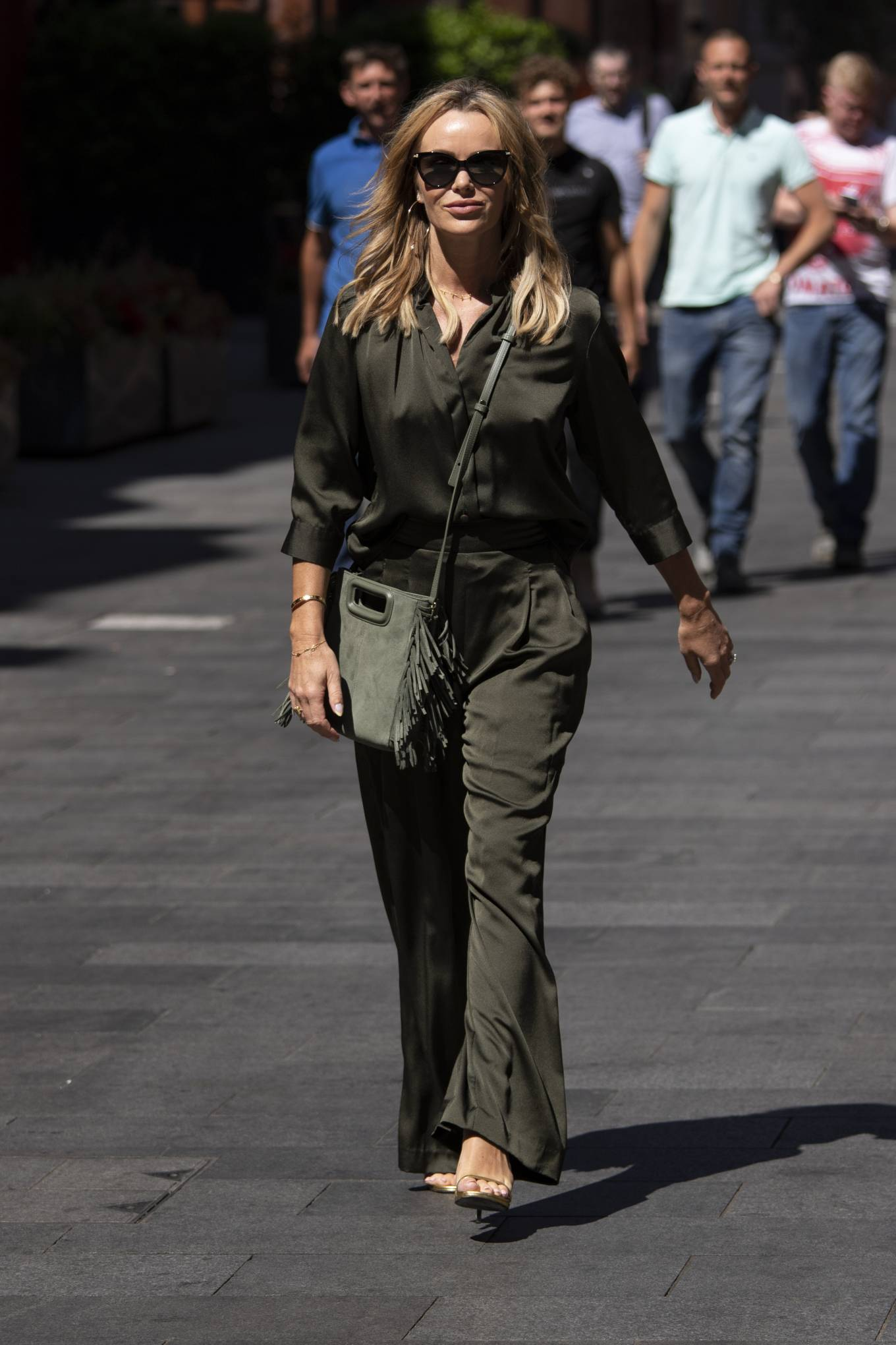 Amanda Holden 2021 : Amanda Holden – Seen leaving Global Radio in Leicester Square-02