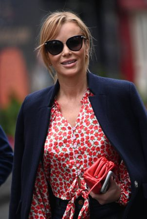 Amanda Holden - Seen leaving Global Radio in London