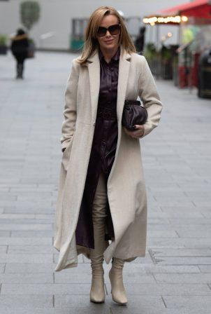 Amanda Holden - Seen leaving Global Studios