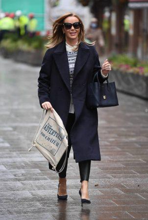 Amanda Holden - Seen leaving Heart FM in London