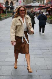 Amanda Holden - Seen leaving Heart Radio offices in London
