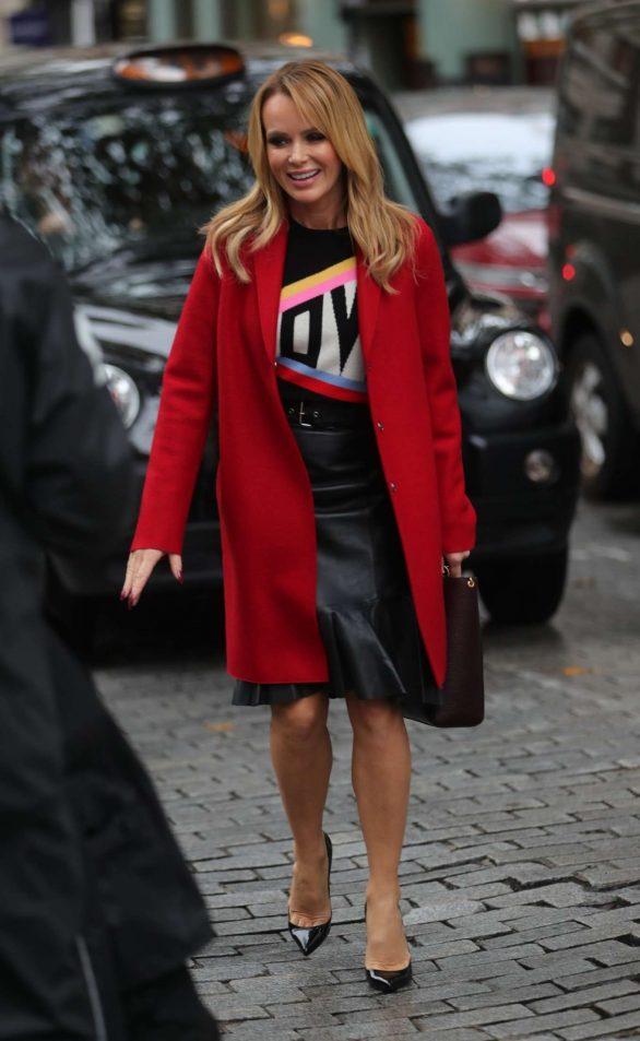 Amanda Holden - Seen leaving Heart Radio show in London