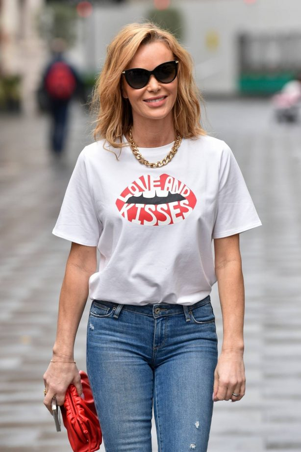 Amanda Holden - Seen leaving the Global studios after the Heart Breakfast show in London