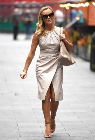 Amanda Holden - Seen outside the Global Radio studios in Lndon