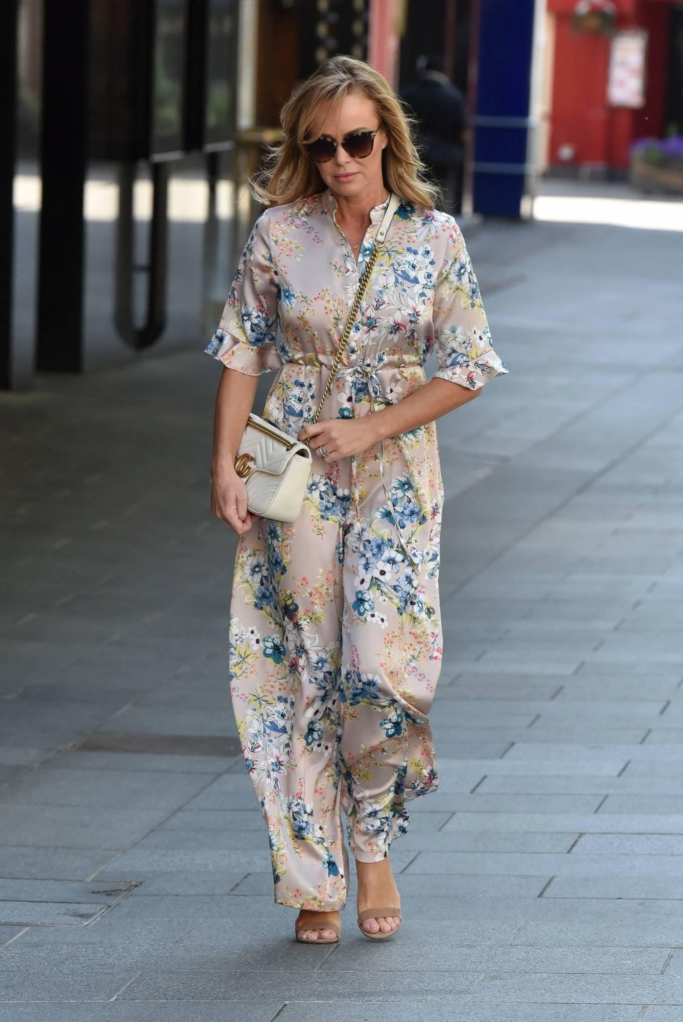 Amanda Holden 2020 : Amanda Holden – Spotted in floral jumpsuit at Global Radio Studios-01