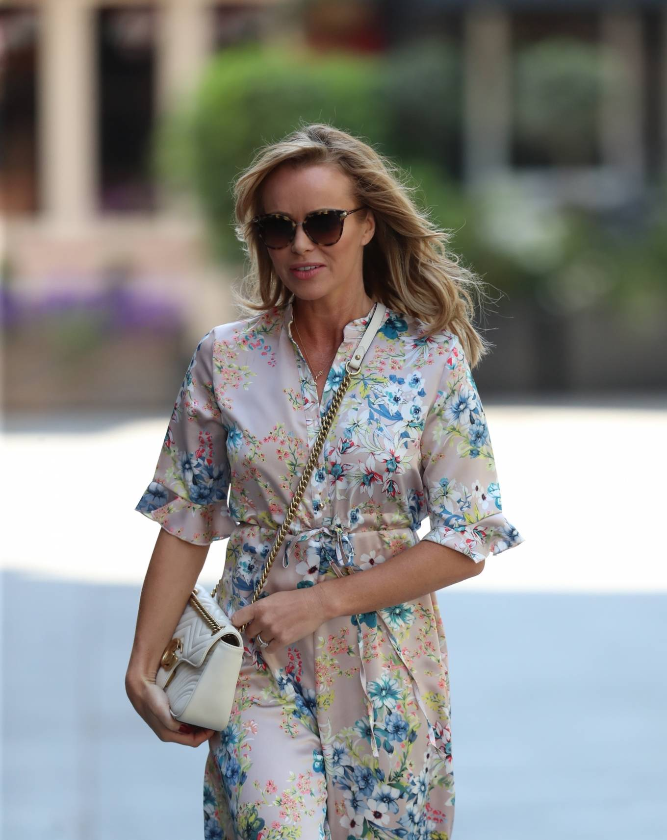 Amanda Holden 2020 : Amanda Holden – Spotted in floral jumpsuit at Global Radio Studios-04