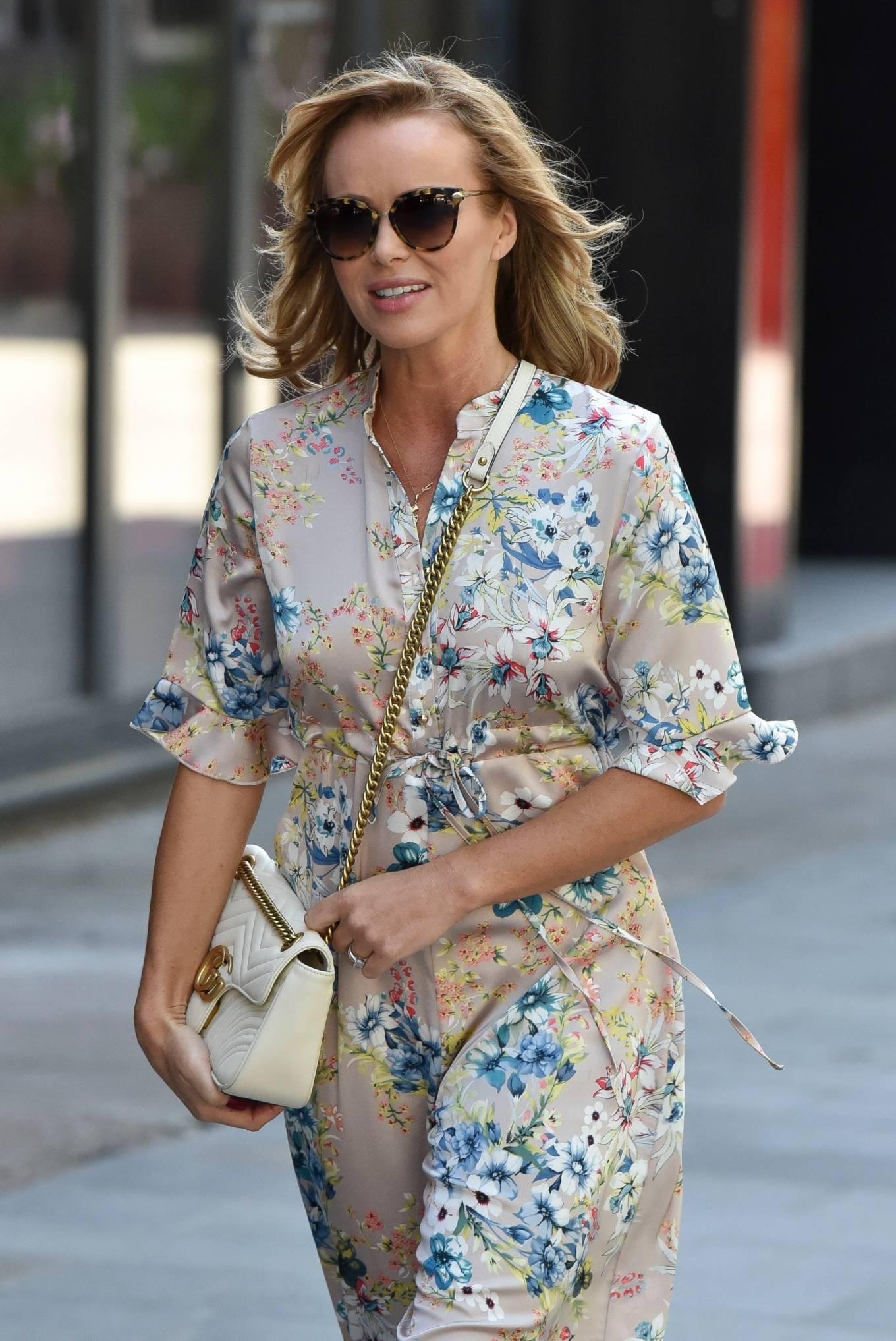 Amanda Holden 2020 : Amanda Holden – Spotted in floral jumpsuit at Global Radio Studios-05