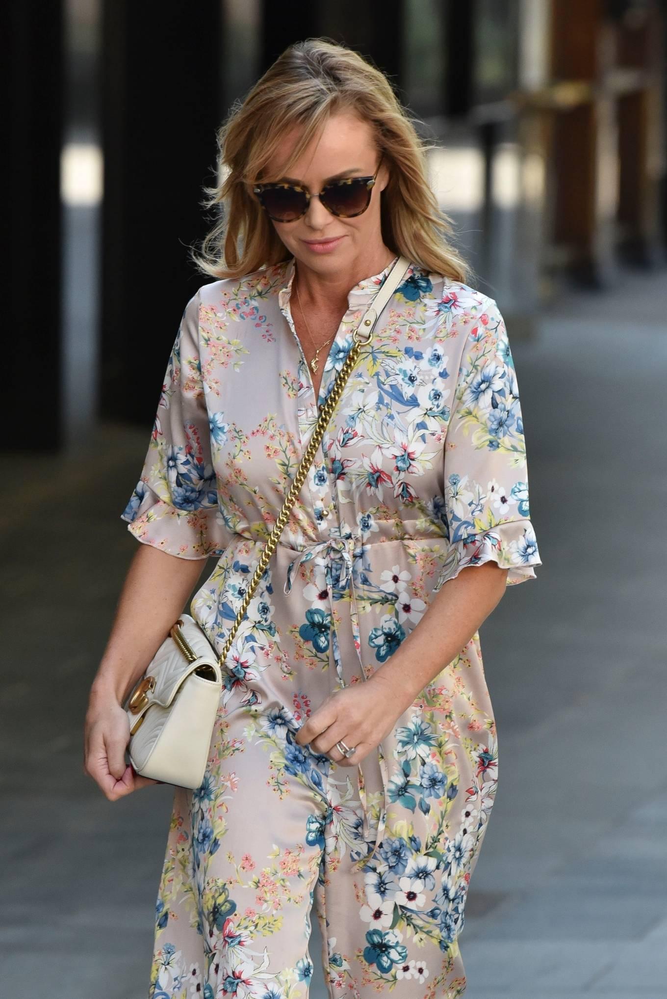 Amanda Holden 2020 : Amanda Holden – Spotted in floral jumpsuit at Global Radio Studios-06
