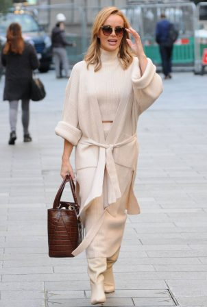 Amanda Holden - spotted leaving Global Radio in London