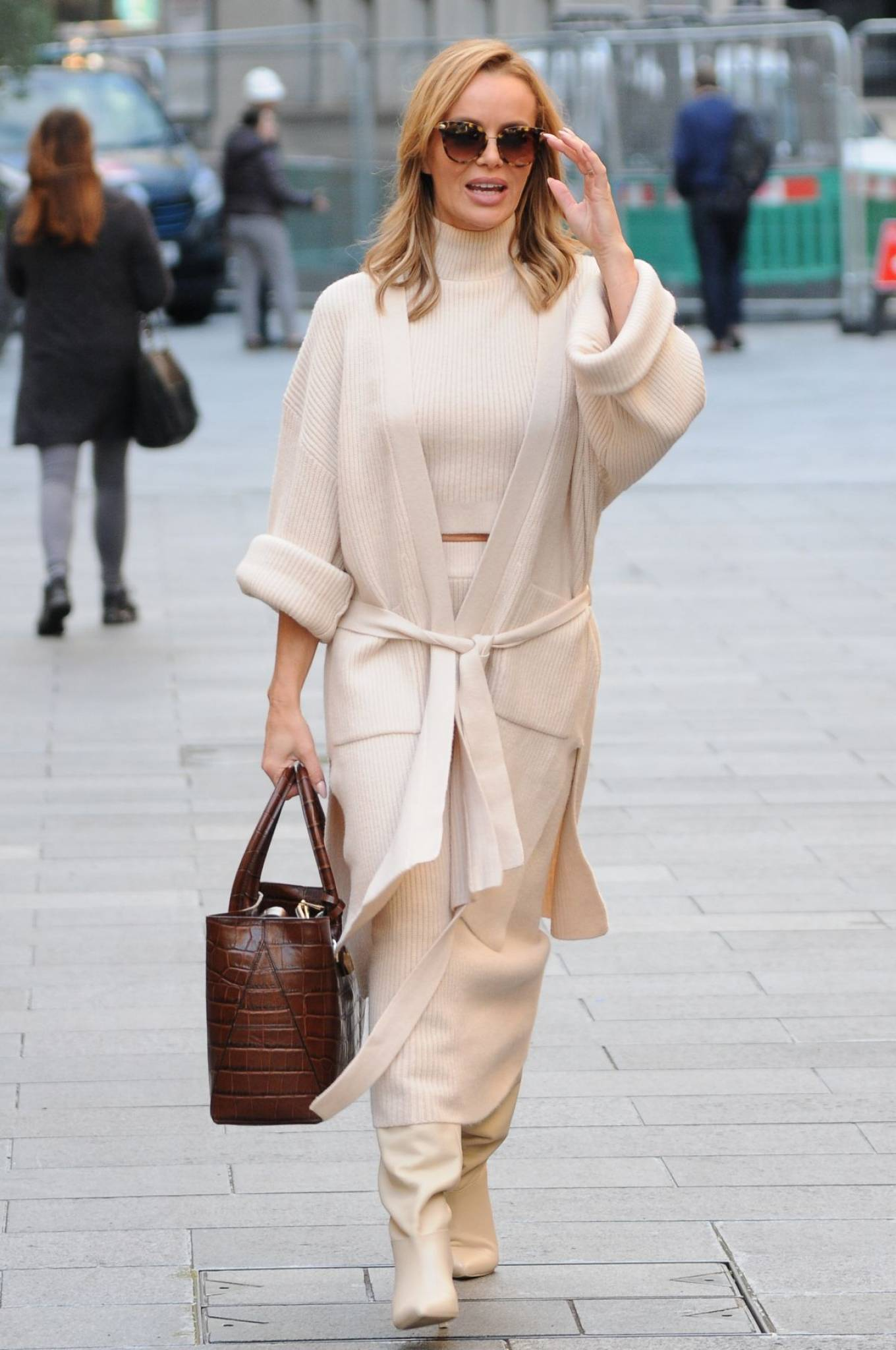 Amanda Holden - spotted leaving Global Radio in London