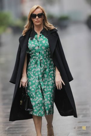 Amanda Holden - Wearing a LK Bennett while out in Central London