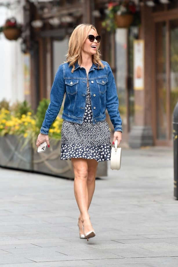 Amanda Holden - Wearing French Connection outfit in London