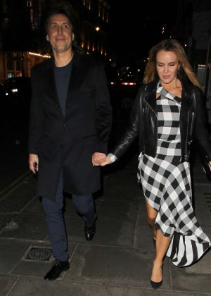 Amanda Holden with husband at J Sheeky restaurant in London