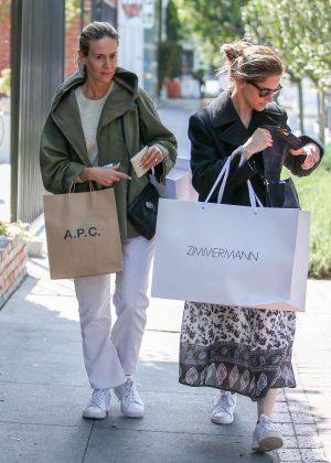 Amanda Peet and Sarah Paulson - Shopping at Zimmermann in West Hollywood