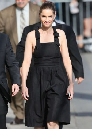 Amanda Peet at ABC studios in New York
