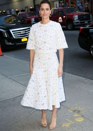 Amanda Peet - 'The Late Show With Stephen Colbert' in New York City