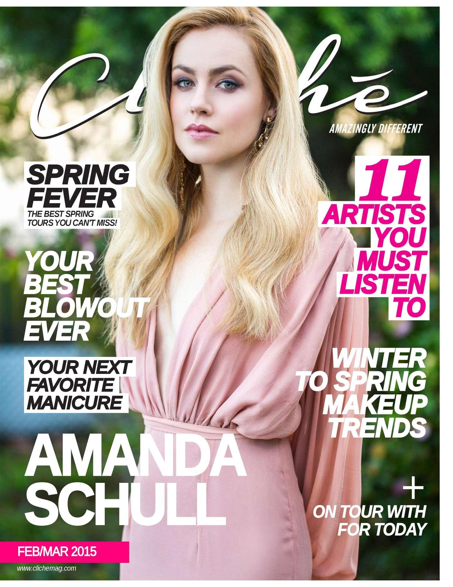 Amanda Schull - Cliche Magazine (February/March 2015)