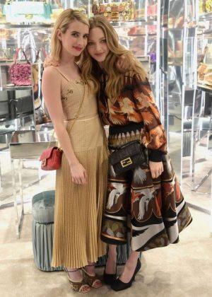 Amanda Seyfried and Emma Roberts at Fendi celebrates Baguette in NYC