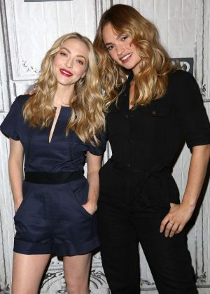 Amanda Seyfried and Lily James - Visit AOL Build Series in NYC