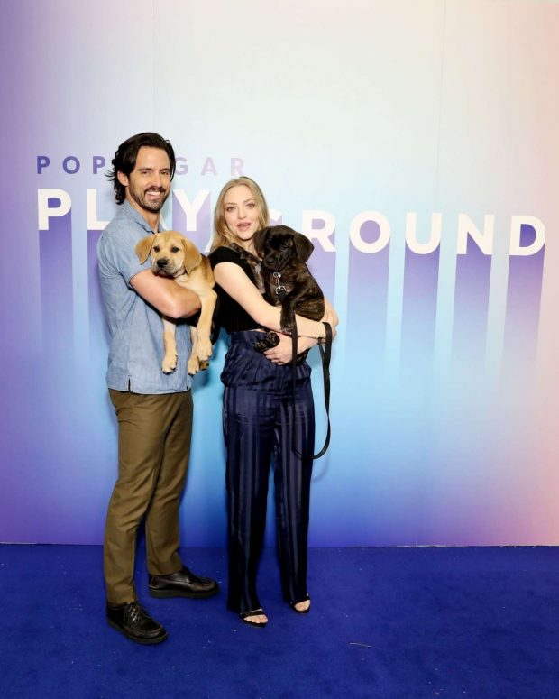 Amanda Seyfried and Milo Ventimiglia - POPSUGAR Play/Ground 2019 in NYC