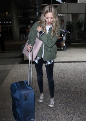 Amanda Seyfried - Arriving at LAX Airport in LA