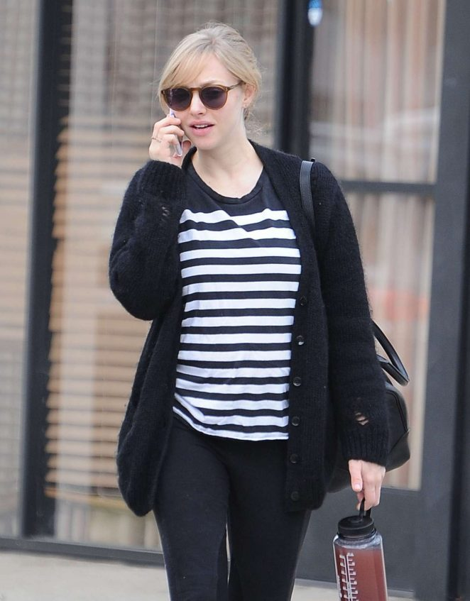 Amanda Seyfried at a doctors office in Santa Monica