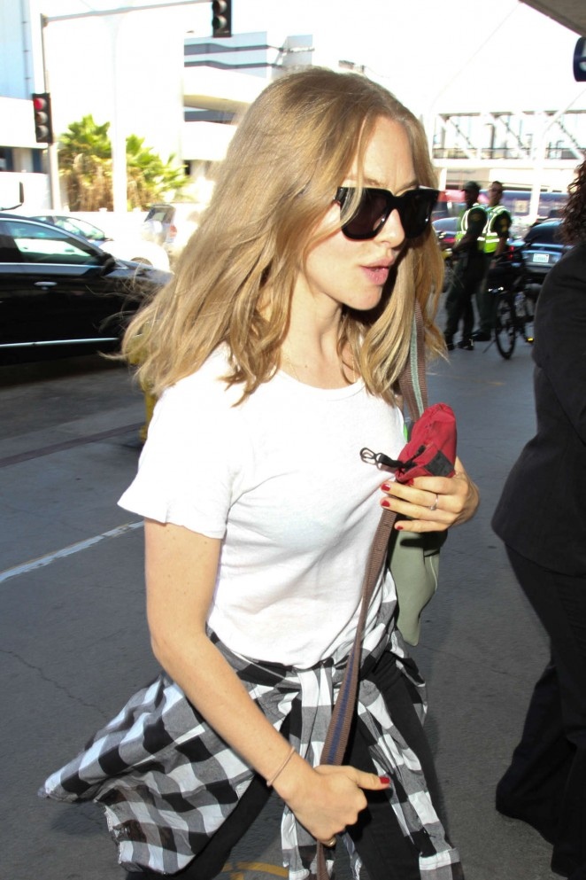 Amanda Seyfried at LAX Airport in LA
